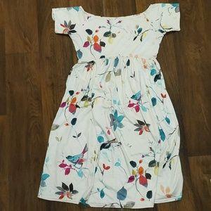 ASOS Floral Off Shoulder Maternity Dress size 10